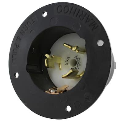50-Amp 125-Volt/250-Volt Power Input Inlet