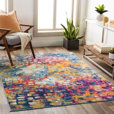 Nylah Purple 9 ft. x 12 ft. 3 in. Abstract Area Rug