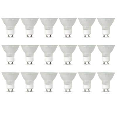 35-Watt Bright White (3000K) MR16 GU10 Bi-Pin Base Dimmable Halogen Light Bulb (18-Pack)