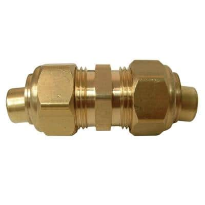 5/8 in. OD Compression Brass Coupling Fitting