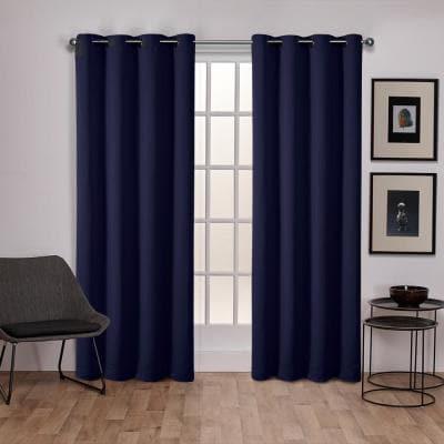 Peacoat Blue Thermal Grommet Blackout Curtain - 52 in. W x 108 in. L (Set of 2)