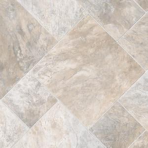Harbor Slate Neutral Stone Residential Vinyl Sheet Flooring 12ft. Wide x Cut to Length