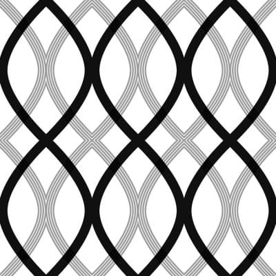 Contour Black Geometric Lattice Black Wallpaper Sample