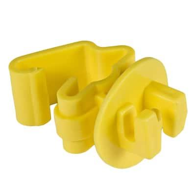 Yellow Standard Snug-Fitting T-Post Insulator (25-Per Bag)