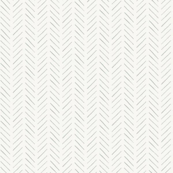 Magnolia Home by Joanna Gaines - Pick-Up Sticks Grey Geometric Paper Pre-Pasted Strippable Wallpaper Roll (Covers 56 Sq. Ft.)
