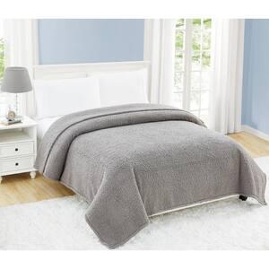 Cloud Sherpa Grey Polyester Twin XL Blanket