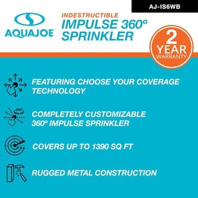6 in. 360° Indestructible Zinc Impulse Sprinkler