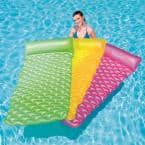 Float N Roll Green, Yellow and Pink Air Mat Pool Float (3-Pack)