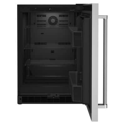 5.0 cu. ft. Mini Fridge in Black Cabinet with Stainless Door without Freezer
