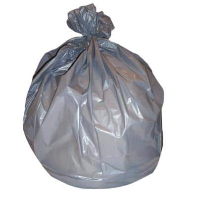 38 in. x 58 in. 60 Gal. 1.1 mil Gray Low-Density Trash Can Liners (20-Bags/Roll, 5-Rolls/Carton)