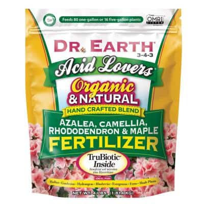 4 lbs. Organic Acid Lovers Azalea Camellia Rhododendron and Maple Fertilizer Dry Fertilizer