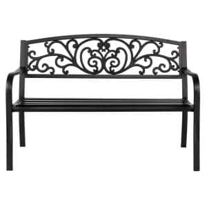 Leisure 50 in. Iron Outdoor Bench