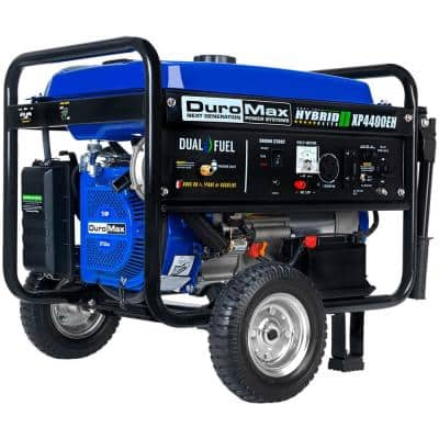 3500-Watt Electric Start Dual Fuel Powered Portable Generator with Wheel Kit