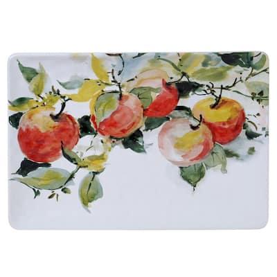Ambrosia Rectangular 14 in. Multicolored Platter