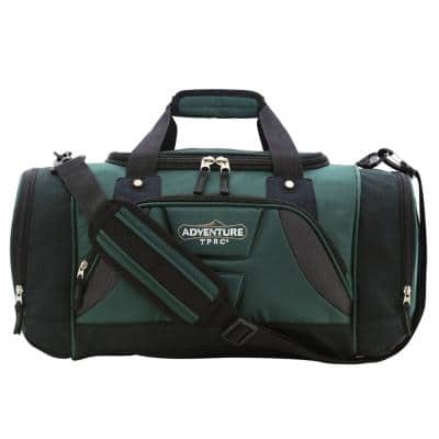 28 in. Green Multi-Pocket Sport Duffel