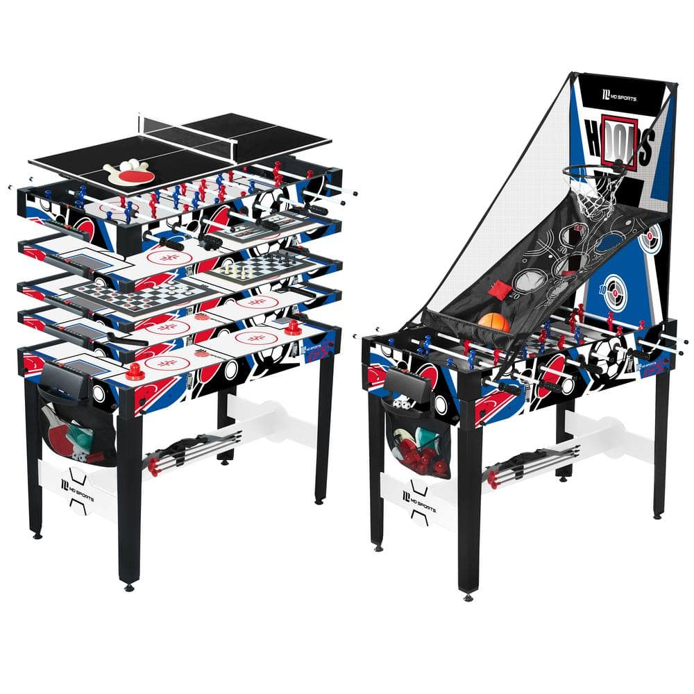 Md Sports 48 In 12 In 1 Multi Game Table Cbf048 048m The Home Depot