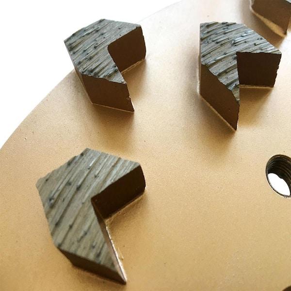 Details about  /3Pcs Concrete Grinding Grind Tool Diamond Grinder Grit 25//30 Medium Bond