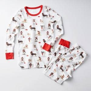 Family Snug-Fit Company Organic Cotton Women's XXL Pajama Set in Dog