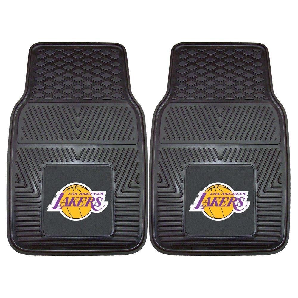 Los Angeles Lakers 18 in. x 27 in. 2-Piece Heavy Duty Vinyl Car Mat