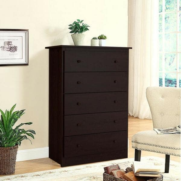 Boyel Living Coffee Functional Storage Cabinet With 5 Drawers Hysn 63117cf The Home Depot