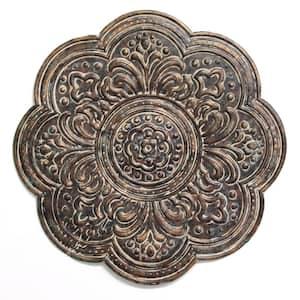 Rustic Bronze Metal Medallion Wall Decor