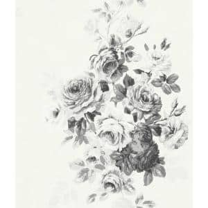 Tea Rose Floral Paper Pre-Pasted Strippable Wallpaper Roll (Covers 56 Sq. Ft.)