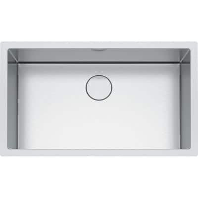 Professional Undermount Stainless Steel 32.5 in. x 19.5 in. Single Bowl Kitchen Sink