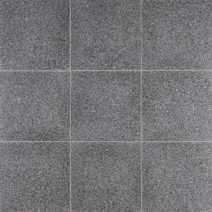 Raleigh Metal Square 16 in. x 16 in. Polished Terrazzo Cement Floor and Wall Tile (3.55 sq. ft./Case)