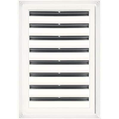 12 in. x 18 in. Rectangle Gable Vent #123 White
