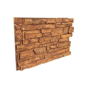 Ledge Stone 48 in. x 24.25 in. Polyurethane Interlocking Siding Panel in Frosted Desert Sun