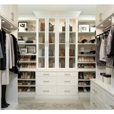Installed Walk-In Wood Closet Organization System