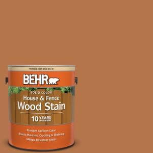 Behr 1 Gal Sc 533 Cedar Naturaltone Solid Color House And Fence Exterior Wood Stain 03001 The Home Depot