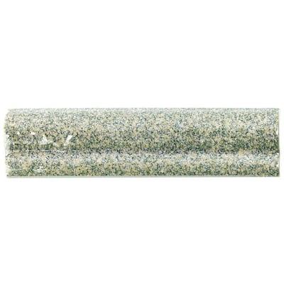 Angela Harris Green 2 in. x 8 in. Polished Ceramic Wall Chair Rail Tile