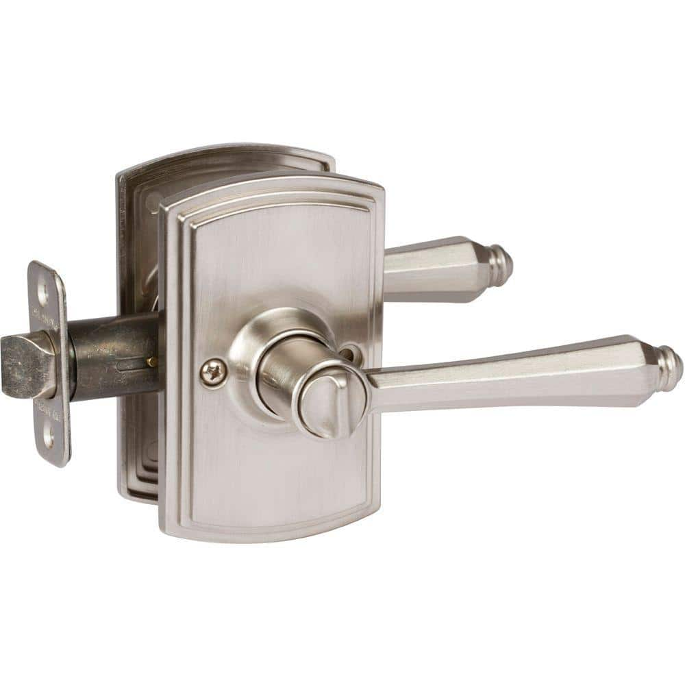 Delaney Hardware Italian Collection Florini Satin Nickel Bed Bath Door Lever 362001 The Home Depot
