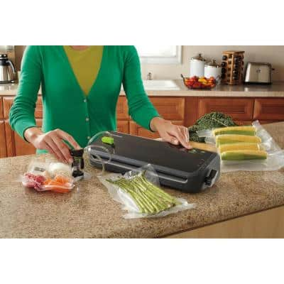 Black Food Vacuum Sealer System with Starter Bags