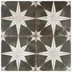 Kings Star Encaustic 17-5/8 in. x 17-5/8 in. Night Ceramic Floor and Wall Tile (11.02 sq. ft./Case)