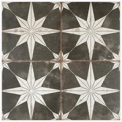 Kings Star Night Encaustic 17-5/8 in. x 17-5/8 in. Ceramic Floor and Wall Tile (11.02 sq. ft./Case)
