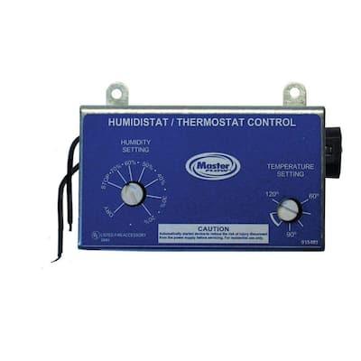 Manually Adjustable Humidistat/Thermostat Control for EGV/ERV Power Vents