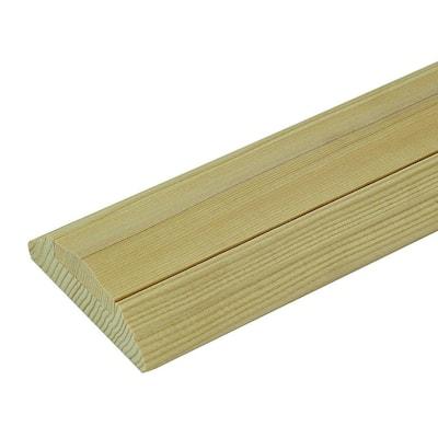 6045 1 ft. Unfinished Poplar Shoe Rail with Fillet