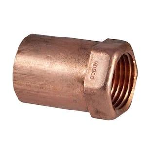1/2 in. x 3/8 in. Copper Pressure Cup x FIP Female Adapter Fitting