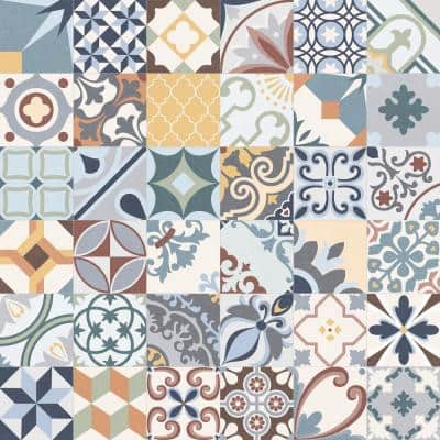 Lumier Multicolor 6.5 in. x 6.5 in. Glazed Porcelain Floor and Wall Tile (5.92 sq. ft. /case)