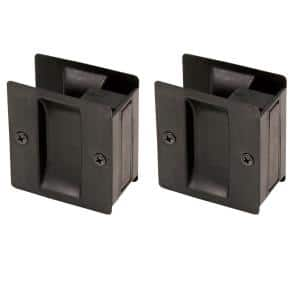 Oil Rubbed Bronze Pocket Door, Hall and Closet Pull (2-Pack)