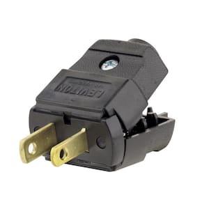 15 Amp 125-Volt Light Duty Plug, Black