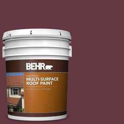 5 gal. #MQ1-14 Twinberry Flat Multi-Surface Exterior Roof Paint