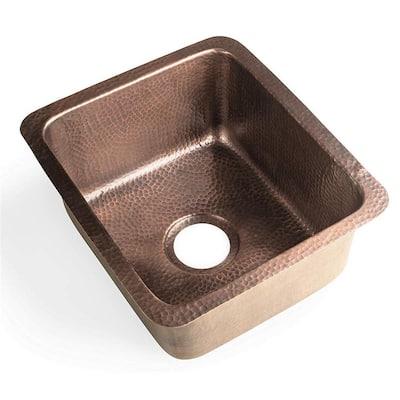 Copper 17 in. Dual Mount Bar Sink