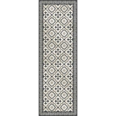 Decorative Taupe and Grey 24 in. x 72 in. Laminated Kitchen Mat