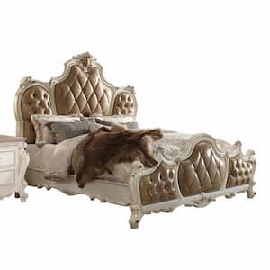 Amelia Antique Pearl Beige with Storage Queen Bed