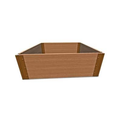 4 ft. x 4 ft. x 16.5 in., 1 in. Profile Classic Sienna Composite Tool-Free Raised Garden Bed
