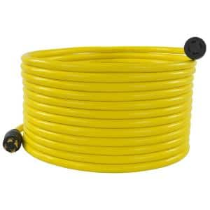 100 ft. 10/4 STW 30 Amp 125-Volt/250-Volt 4-Prong L14-30 Transfer Switch Cord/Generator Extension Cord