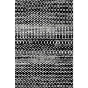 Blythe Modern Moroccan Trellis Black 5 ft. x 8 ft. Area Rug
